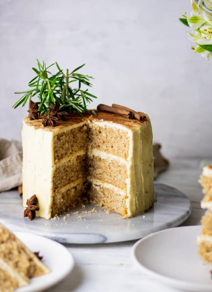 Chai Spiced Cake with Brown Butter Buttercream