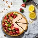 overhead photo of strawberry lemon tart