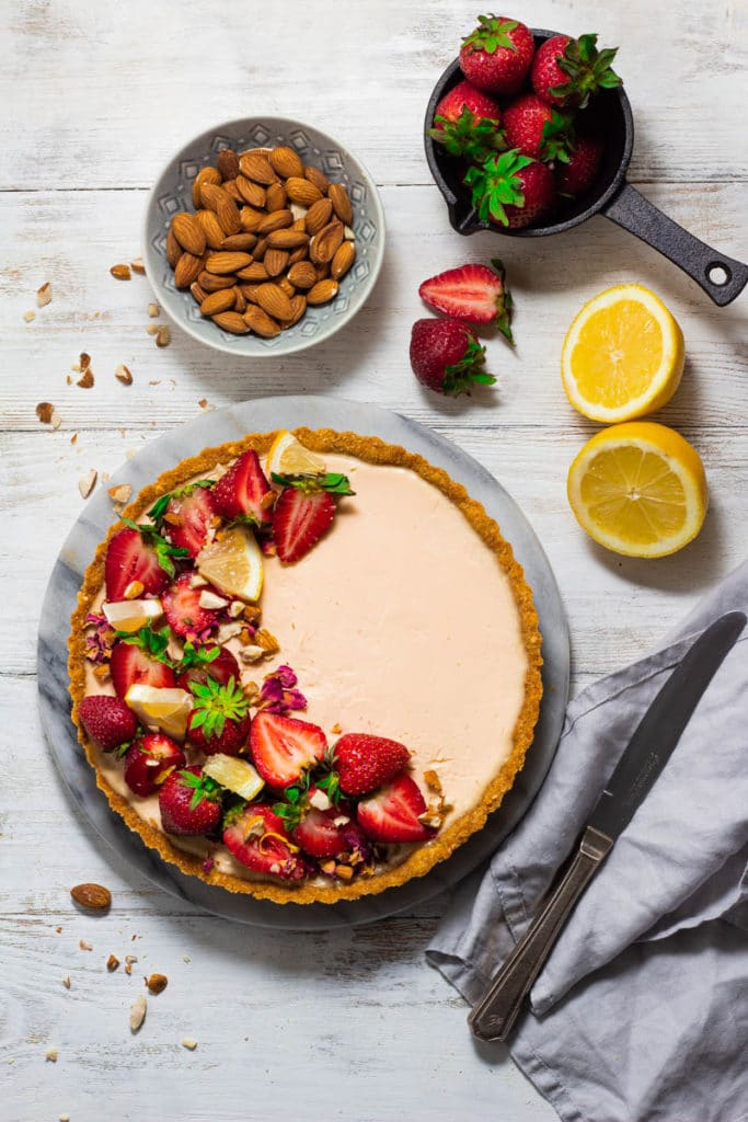 strawberry lemon tart crust